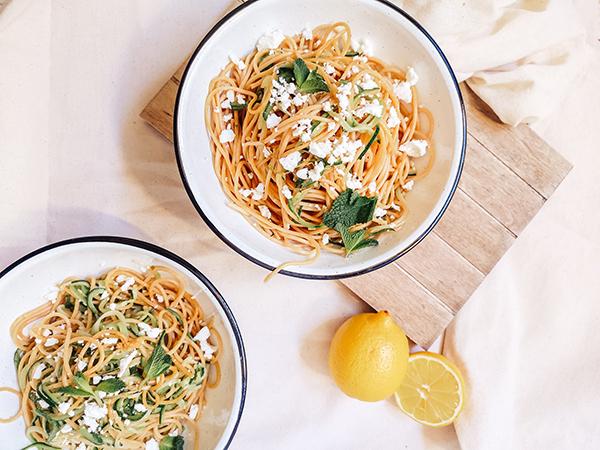 Espagueti Con Calabacin Y Limon