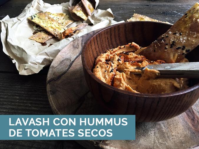 Lavash Con Hummus De Tomates Secos